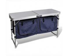 VidaXL Armario plegable para camping con marco de aluminio