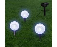 VidaXL Lámparas flotantes solares para piscina, con LED, 3 unidades