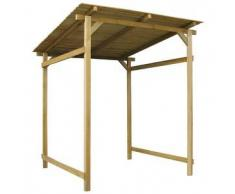 VidaXL Cobertizo de almacenamiento madera para jardín 180 x 200 cm