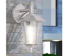 VidaXL Lámpara de pared luz descendente exterior acero inoxidable
