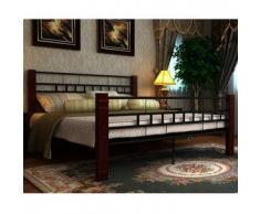 VidaXL Estructura de cama matrimonio 160x200 cm negra metal
