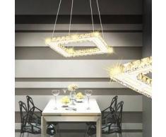 VidaXL Lámpara de Techo Cristal Cuadrada con LED 15,4 W