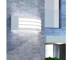 VidaXL Lámpara de pared para exteriores acero inoxidable