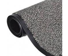 VidaXL Alfombra de entrada cuadrada, beis y antideslizante 90 x 60 cm