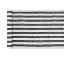 VidaXL Toldo para balcón HDPE 75x400 cm gris antracita y blanco