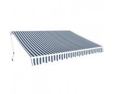VidaXL Toldo plegable manual 3,5x2,5 m azul y blanco