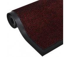 VidaXL Alfombra de entrada cuadrada, roja y antideslizante 90 x 60 cm