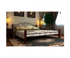 VidaXL Estructura de cama matrimonio160x200 cm negra metal