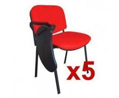 Lote 5 Sillas de Confidente MOBY con PALA escritura en rojo