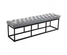 CLP Banco Amun B150 tapizado de cuero sintético metal gris 46 cm