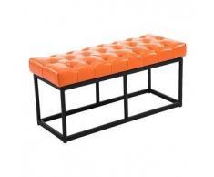 CLP Banco Amun B100 tapizado de cuero sintético metal naranja 46 cm