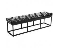CLP Banco Amun B150 tapizado de cuero sintético metal negro 46 cm