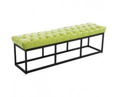 CLP Banco Amun B150 tapizado de cuero sintético metal verde 46 cm