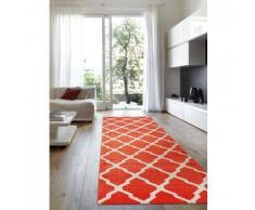 Benuta Alfombra de pasillo Lotus Naranja 80x240 cm