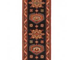 Brink & Campman Alfombra de pasillo de lana Emir Negro 70x450 cm