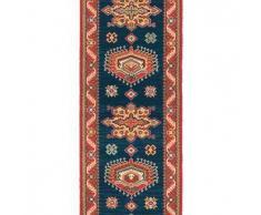 Brink & Campman Alfombra de pasillo de lana Emir Azul 70x300 cm