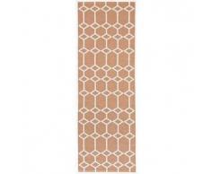 Brita Sweden Plástico Alfombra de pasillo tejido plano Ingrid Naranja 70x250 cm