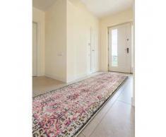 Benuta Alfombra de pasillo Casa Beige/Fucsia 70x240 cm