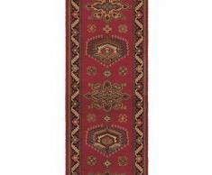 Brink & Campman Alfombra de pasillo de lana Emir Rojo 70x300 cm