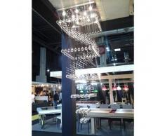 Lámpara de araña - de cristal 1,80m - Stockholm