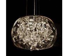 Lámpara de Techo vidrio LED con cristales - Juno