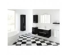 Mueble de baño modelo OLEX, negro 80 cm