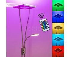 Notigi Lámpara de pie LED Níquel-mate, 2 bombillas - 2350 Lumen - Diseño - Zona interior - 3000 Kelvin - 2 - 4 días laborables .