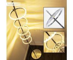 Frontenac Lámpara de pie LED Níquel-mate, 5 bombillas - 2000 Lumen - Diseño - Zona interior - 3000 Kelvin - 2 - 4 días laborables .