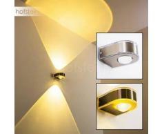 Kanpur Lámpara para exterior LED Níquel-mate, Acero inoxidable, 1 bombilla - 180 Lumen - Moderno/Diseño - Zona exterior - 3000 Kelvin - 2 - 4 días laborables .