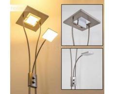 KIMBA Lámpara de pie LED Níquel-mate, 3 bombillas - 1650/350 Lumen - Diseño - Zona interior - 3000 Kelvin - 2 - 4 días laborables .