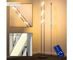 Howley Lámpara de pie LED Cromo, 3 bombillas - 1200 Lumen - Diseño - Zona interior - 3000 Kelvin - 2 - 4 días laborables .