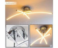 Hampden Lámpara de techo LED Cromo, 3 bombillas - 650 Lumen - Diseño - Zona interior - 3000 Kelvin - 2 - 4 días laborables .