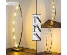 MILO Lámpara de pie LED Níquel-mate, Cromo, 6 bombillas - 240 Lumen - Moderno/Diseño - Zona interior - 2700 Kelvin - 4 - 8 días laborables .