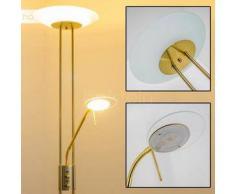 OLMINI Lámpara de pie LED Latón, 2 bombillas - 450/1620 Lumen - Diseño - Zona interior - 3000 Kelvin - 2 - 4 días laborables .
