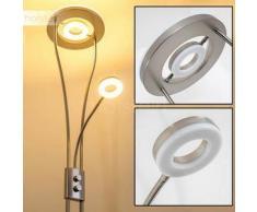 Watino Lámpara de pie LED Níquel-mate, 3 bombillas - 1650/350 Lumen - Diseño - Zona interior - 3000 Kelvin - 2 - 4 días laborables .