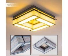 HOPEDALE Lámpara de Techo LED Níquel-mate, 1 bombilla - 1200 Lumen - Moderno - Zona interior - 3000 Kelvin - 2 - 4 días laborables .