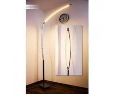Santa Marta Lámpara de pie LED Níquel-mate, Cromo, 1 bombilla - 2000 Lumen - Diseño - Zona interior - 3000 Kelvin - 2 - 4 días laborables .