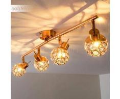 Managua Lámpara de techo LED Cobre, 4 bombillas - 280 Lumen - Clásico - Zona interior - 3000 Kelvin - 2 - 4 días laborables .