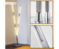 Wien Lámpara de pie LED Níquel-mate, 6 bombillas - 2000 Lumen - Moderno/Diseño/vivienda Juvenil/Fun - Zona interior - 3000 Kelvin - 2 - 4 días laborables .