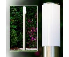 Caserta Lámpara de pie para exterior Acero inoxidable, 1 bombilla - - Moderno - Zona exterior - - 2 - 4 días laborables .