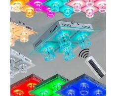 Leuchten-Direkt Lámpara de techo LED Níquel-mate, 4 bombillas - 155 Lumen - Diseño - - - 2 - 4 días laborables .