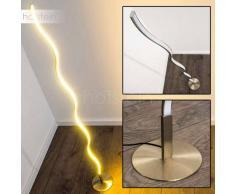 Dillon Lámpara de pie LED Níquel-mate, 1 bombilla - 1000 Lumen - Diseño - Zona interior - 3000 Kelvin - 2 - 4 días laborables .