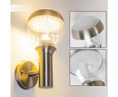 CORDOVA Aplique para Exterior LED Acero inoxidable, 1 bombilla - 750 Lumen - Moderno - Zona exterior - 3000 Kelvin - 2 - 4 días laborables .