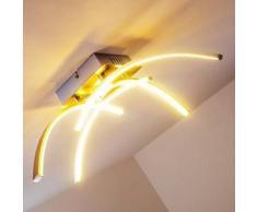 Elia Lámpara de techo LED Cromo, 1 bombilla - 1200 Lumen - Diseño - Zona interior - 3000 Kelvin - 2 - 4 días laborables .
