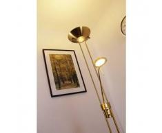 Rom Lámpara de pie LED Latón, dorado, 2 bombillas - 2000 Lumen - Moderno/Diseño - Zona interior - 3000 Kelvin - 2 - 4 días laborables .