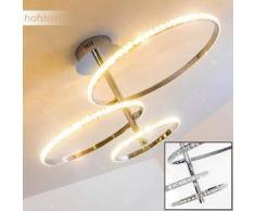 WILLOW Lámpara de Techo LED Cromo, Plata, 1 bombilla - 1500 Lumen - Moderno - Zona interior - 3200 Kelvin - 2 - 4 días laborables .