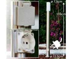 Caserta Lámpara de pie para exterior Acero inoxidable, 1 bombilla - - Moderno/Diseño - Zona exterior - - 2 - 4 días laborables .