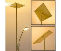 AGELLO Lámpara de pie LED Latón, 2 bombillas - 450/1620 Lumen - Diseño - Zona interior - 3000 Kelvin - 2 - 4 días laborables .