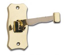 Siro 605-210ZN5 - Ropa gancho isfet perchas plegables para 4, profundidad 204 mm, latón,