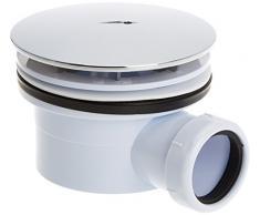 The Living Design H7 - Válvula desagüe plato para ducha (cuarzo, 90 cm) color cromo